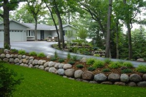 Photo #3: Boulders Landscaping Inc. Boulder Retaining Walls / Outcroppings