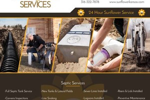 Photo #1: Sunflower Services - Septic & Plumbing Service With a Smile!