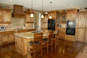 Photo #1: Custom woodwork and cabinets