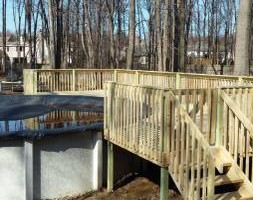 Photo #1: Decks by design - framing, drywall, trim, cabinets, doors