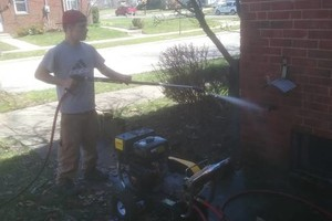 Photo #1: Pressure Washing - graffiti off brick, oil stains off driveway, decks