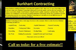 Photo #1: Burkhart Contracting. Seal Coating - Asphalt - Concrete - Demo - Site Work
