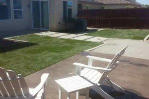 Photo #13: Torres Landscaping and Concrete (sprinklers system, sod, plants/concrete curbing, colored concrete)