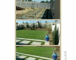 Photo #5: Torres Landscaping and Concrete (sprinklers system, sod, plants/concrete curbing, colored concrete)