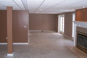 Photo #1: Installing drop ceiling grid and tile system