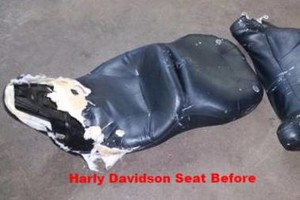 Photo #1: Cool Rides Upholstery- we do cycle seats!