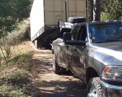 Photo #1: Shipping and hauling with 40'tiltbed trailer