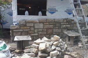 Photo #3: Karcher Masonry - garages, fireplaces, porch piers, retaining walls