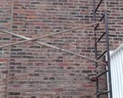 Photo #1: Brick Pointing - Stucco - Parging, Chimney and Foundation