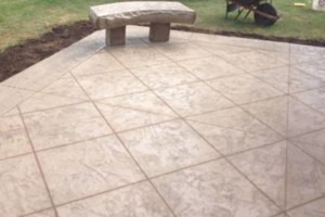 Photo #1: Flat concrete, and stamped concrete work