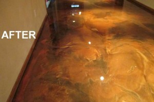 Photo #9: Got UGLY Concrete? ... We Have the CURE! Custom Epoxy Floor Coatings