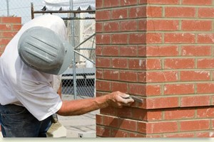 Photo #1: Brick Repair. Masonry Work - Driveway, Porch Walkways...