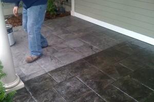 Photo #1: Resurfacing Concrete. Add new color!