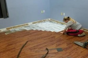 Photo #24: VCT tile and vinyl wood plank installation