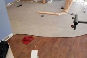 Photo #23: VCT tile and vinyl wood plank installation
