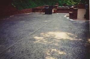 Photo #16: DECORATIVE STAMPED & BROOM FINISHED CONCRETE SERVICE