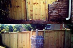 Photo #23: DOCKENS Construction. Privacy fence-decks-patio covers
