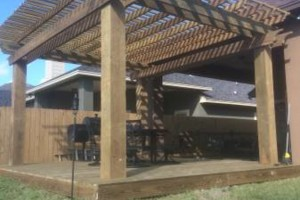 Photo #14: DOCKENS Construction. Privacy fence-decks-patio covers