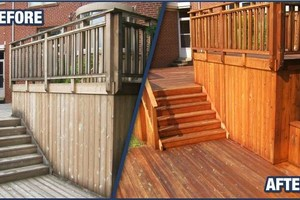 Photo #2: Exterior Wood Cleaning/Staining
