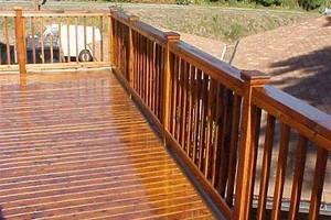 Photo #1: Exterior Wood Cleaning/Staining