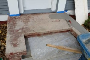 Photo #1: Concrete Stoop Refinishing - from $300 to $600 for big jobs