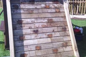 Photo #2: Power washing and staining