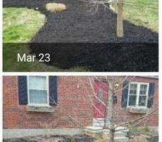 Photo #1: Curb Appeal Solutions. Mulching, mowing, landscaping