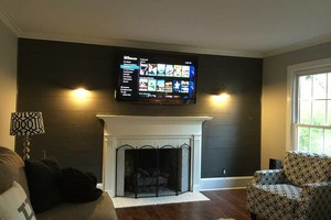 Photo #1: We hang TV's, We hang Projectors. We wire surround sound systems