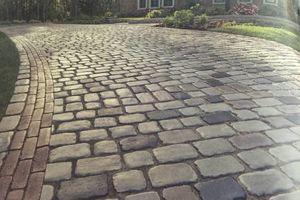 Photo #3: Paving stones. Roadway (pavement) restoration. Lining