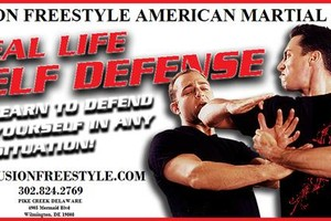 Photo #1: Adult Self Defense Classes - $19.99/Month Martial Arts. Fusion free style