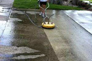 Photo #1: PRESSURE WASHING - DRIVEWAY POOL DECK MOLD AWAY