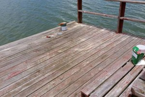 Photo #10: Professional deck/dock staining