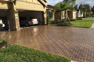 Photo #1: BRICK PAVER SEALING AND CLEANING