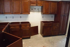 Photo #1: Best price on kitchen cabinets! All wood, all wood!
