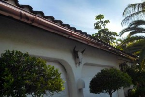 Photo #1: Seamless Rain Gutters. Installation, leaf guard and maintenance