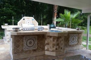 Photo #9: OUTDOOR KITCHENS. GRILL ISLANDS. FIREPLACES