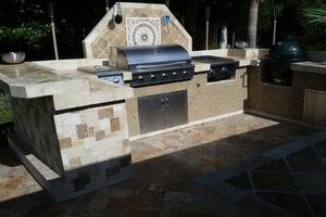 Photo #6: OUTDOOR KITCHENS. GRILL ISLANDS. FIREPLACES