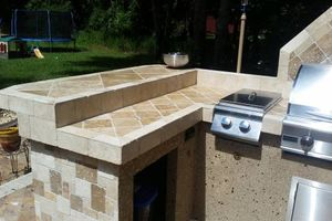 Photo #5: OUTDOOR KITCHENS. GRILL ISLANDS. FIREPLACES