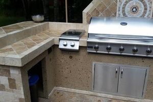 Photo #4: OUTDOOR KITCHENS. GRILL ISLANDS. FIREPLACES