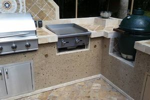 Photo #3: OUTDOOR KITCHENS. GRILL ISLANDS. FIREPLACES