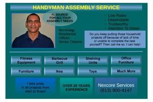Photo #1: ASSEMBLY HANDYMAN SERVICE.. ASSEMBLE IT