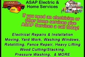 Photo #1: ASAP ELECTRIC & SERVICES LLC - Electrical/Home Services