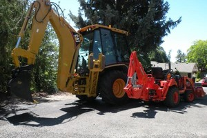 Photo #1: Tractor/backhoe work - small and large - $45/hr/$75/hr