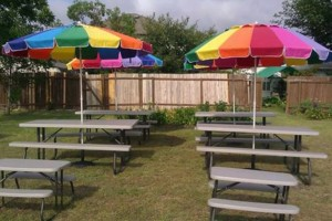 Photo #6: Tables & Chairs Rental/ Picnic table with Umbrella Shade