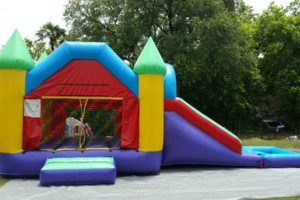 Photo #2: Moonbounce jumper combo water slide or ball pit