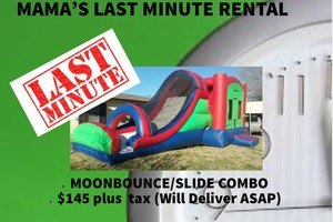 Photo #1: Moonbounce Rental. Last Minute Available!