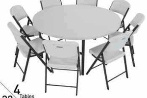 Photo #1: Tables and Chairs rentals / BEST DEALS - $20 delivery fee