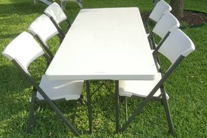 Photo #2: 6 Tables and 36 Chairs $60! +delivery and pick up $10