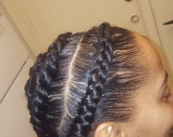 Photo #3: $40 Feeder braids or ghana braids anysize