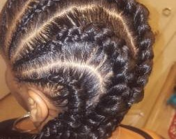 Photo #2: $40 Feeder braids or ghana braids anysize